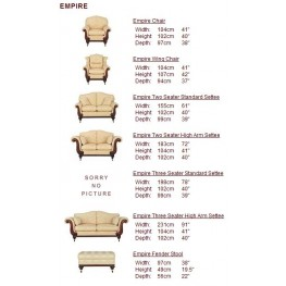 Empire Large Sofa, Small Sofa, Chairs & Footstools