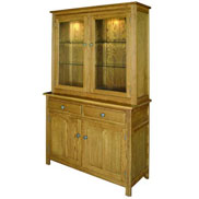 2 door display cabinet from the Hertford furniture range by Old Charm