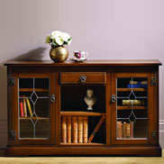 Low bookcase from the office furniture range by Old Charm